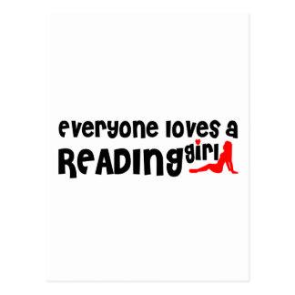 Cada uno ama a un chica de la lectura tarjeta postal