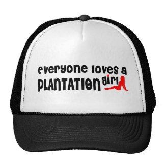 Cada uno ama a un chica de la plantación gorros bordados
