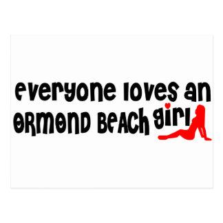 Cada uno ama a un chica de la playa de Ormond Tarjetas Postales