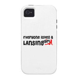 Cada uno ama a un chica de Lansing iPhone 4/4S Carcasa