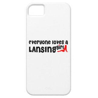 Cada uno ama a un chica de Lansing Funda Para iPhone 5 Barely There