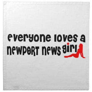 Cada uno ama a un chica de las noticias de Newport Servilleta Imprimida
