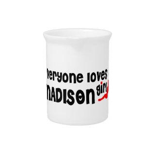 Cada uno ama a un chica de los WI de Madison Jarrones