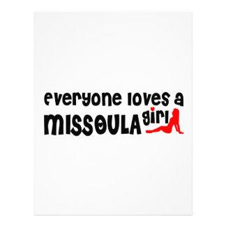 Cada uno ama a un chica de Missoula Membrete A Diseño