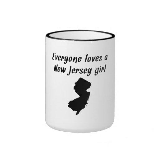 Cada uno ama a un chica de New Jersey Tazas