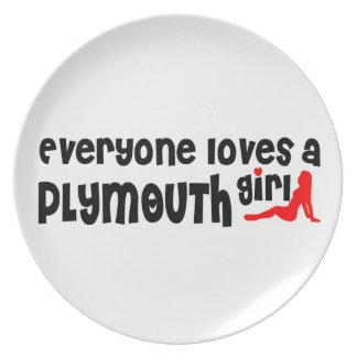 Cada uno ama a un chica de Plymouth Platos De Comidas