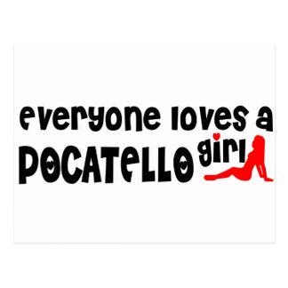 Cada uno ama a un chica de Pocatello Tarjetas Postales