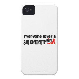 Cada uno ama a un chica de San Clemente iPhone 4 Case-Mate Carcasa