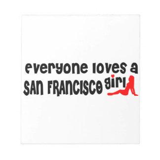 Cada uno ama a un chica de San Francisco Bloc De Papel