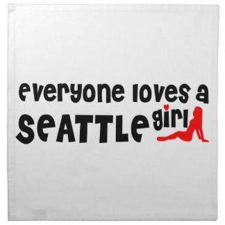 Cada uno ama a un chica de Seattle Servilleta