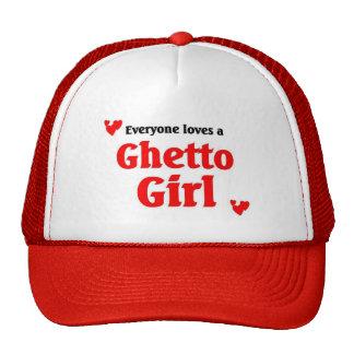 Cada uno ama a un chica del ghetto gorros bordados