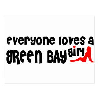 Cada uno ama a un chica del Green Bay Tarjetas Postales