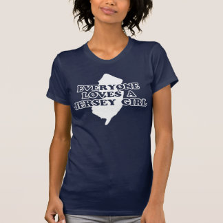 Cada uno ama a un chica del jersey camiseta
