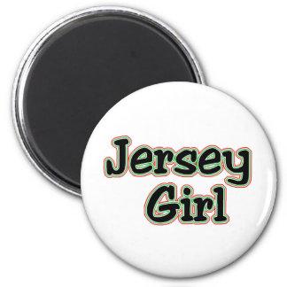 Cada uno ama a un chica del jersey imán redondo 5 cm