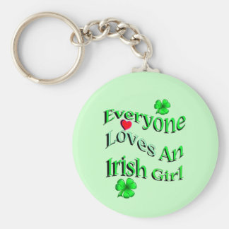 Cada uno ama a un chica irlandés llavero redondo tipo pin