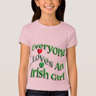 Cada uno ama a un chica irlandés playera