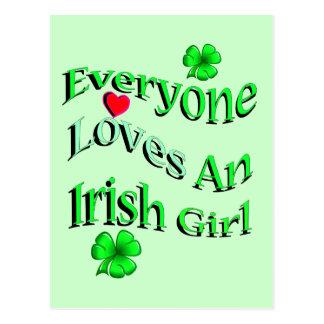 Cada uno ama a un chica irlandés postal