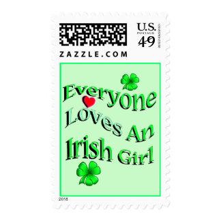 Cada uno ama a un chica irlandés sellos