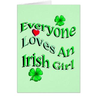 Cada uno ama a un chica irlandés tarjeta de felicitación