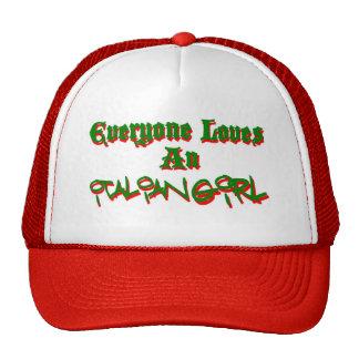 Cada uno ama a un chica italiano gorros bordados
