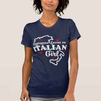 Cada uno ama a un chica italiano camisetas