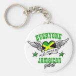 Cada uno ama a un chica jamaicano llavero