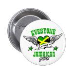 Cada uno ama a un chica jamaicano pins