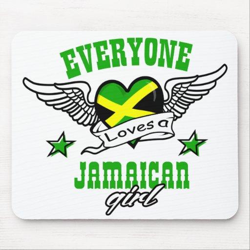 Cada uno ama a un chica jamaicano tapetes de ratones