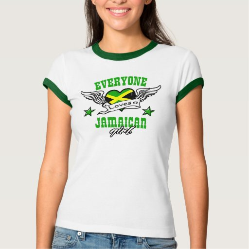 Cada uno ama a un chica jamaicano tshirts