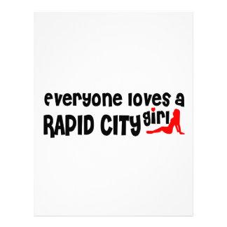 Cada uno ama a un chica rápido de la ciudad plantilla de membrete