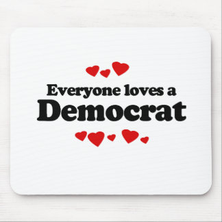 Cada uno ama a un Demócrata Mouse Pads
