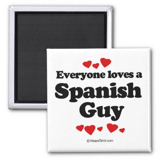 Cada uno ama a un individuo español imán de frigorífico