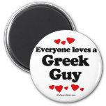 Cada uno ama a un individuo griego imanes