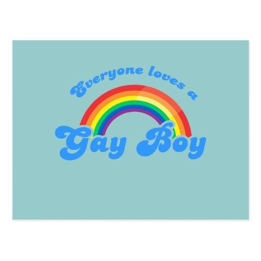 Cada uno ama a un muchacho gay postales