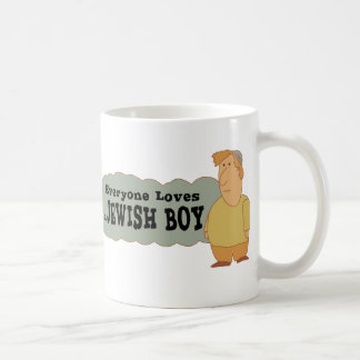 Cada uno ama a un muchacho judío taza clásica