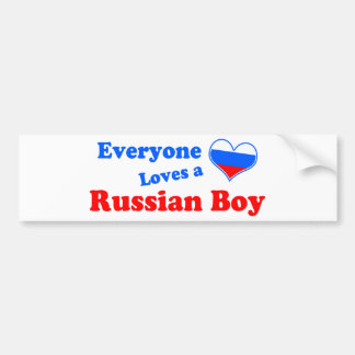 ¡Cada uno ama a un muchacho ruso! Pegatina Para Auto