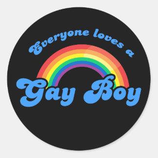 Cada uno ama a un pegatina gay del muchacho