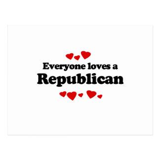 Cada uno ama a un republicano postal