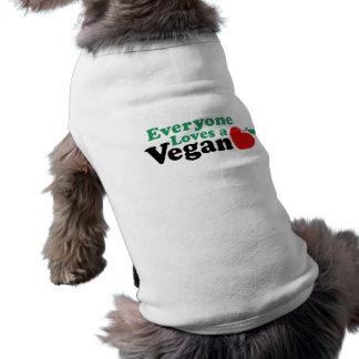Cada uno ama a un vegano playera sin mangas para perro
