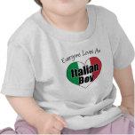 Cada uno ama al muchacho italiano camisetas
