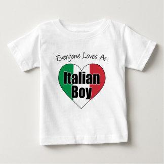 Cada uno ama al muchacho italiano playera de bebé