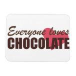 Cada uno ama el chocolate imán