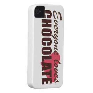 Cada uno ama el chocolate iPhone 4 Case-Mate carcasa