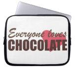 Cada uno ama el chocolate mangas computadora