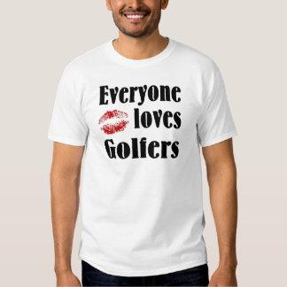 Cada uno ama las camisetas de los golfistas playera
