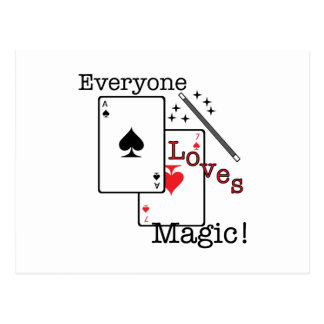 ¡Cada uno ama magia! Postal