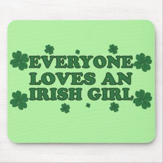Cada uno ama un cojín de ratón irlandés del chica tapetes de ratones