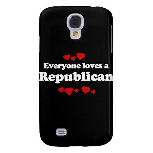 Cada uno ama un republicano (blanco) funda para galaxy s4
