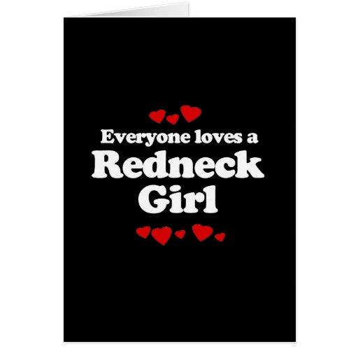 Cada uno ama una camiseta del chica del campesino  tarjeta de felicitación