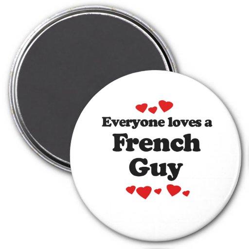 Cada uno ama una camiseta del individuo de Frency Imán Para Frigorífico